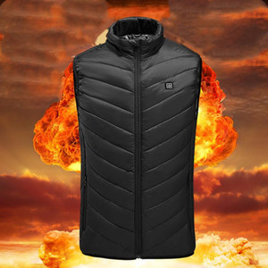 Electric Heated Vest With Heater USB Heating Coat Thermal Warmer Waistcoat Sleeveless Outdoor Winter Jacket No Power Bank
