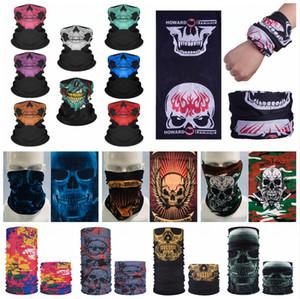 Magic Ride Headscarf Skull Printed Bandanas Riding Face Mask Sport Hip Hop Headband Tube Neck Face Headscarves 40 Styles LJJP731