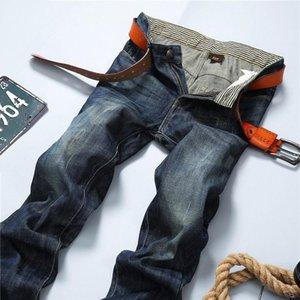 2021 uomini di alta qualità dei jeans di modo Jeans caldi Per Uomini giovani Vendita Pantaloni casuali diritti dei pantaloni di marca HOWDFEO Slim Cheap