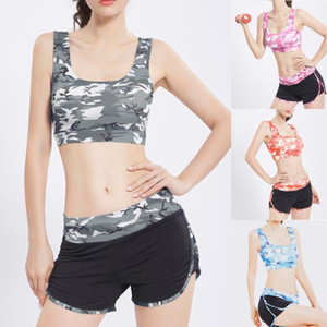 2pcs Seamless camouflage Trainning Set Sportswear Sports Bra+shorts Fitness Pants Gym Running Suit Exercise Clothing Athletic#g2