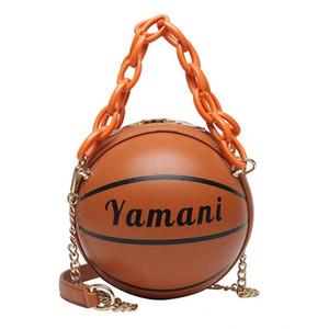 Cadeias de moda Basketball futebol em forma de sacos Bandoleira Mulheres Acrílico Saco de mão de ombro Messenger Bags Lady Brands engraçado Clutch