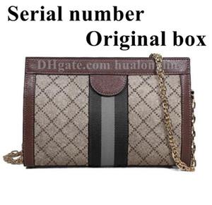 Bolsa de mulher Bolsa Caixa Original Número de série Código de Couro de Alta Qualidade Cruz Cruz Moda Senhora Mensageiro Bag
