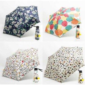 Mini Pocket Umbrella Femmes Super Light Creative 5fold Manuel Pocket style britannique parapluie pluie soleil femmes enfants Paraguas bbyNmC wrhome