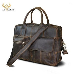 Natural Leather Fashion Large Capacity Business Briefcase Messenger Bag Male Design Travel Laptop Case Tote Portfolio Bag b3311
