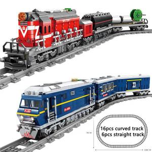 NEW KAZI City Train Power-Driven Diesel Rail Train Cargo с треками Set Model Technic Building Block Compatible Все торговые марки 1008