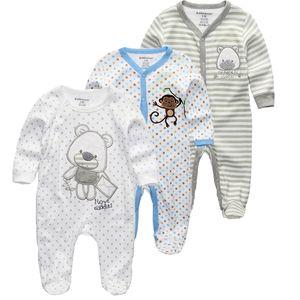 Kiddiezoom 2/3 / 4pcs / Set Baby Boys Shirts Vêtements Ensembles de vêtements Nouveau-né Garçons Romper Summer Roupa Infantil Outfit Costumes 201127