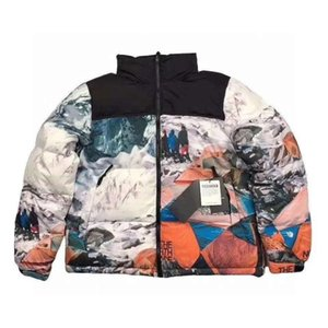 Fashion Stylish Face Mens Jacket Coat Warm Windbreaker Jackets Latters Embroidery Pattern Zippers Tops Coat Outerwear Coats Clothes
