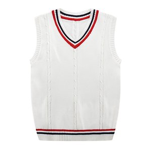Herbst-Winter-2019 neue Männer Mode Fine Pur Color Business Leisure Vest Pullunder Male beiläufige adrette Art Sweater