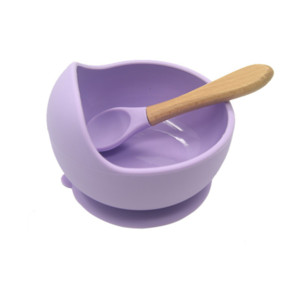 Silicone Baby Food Set Cuillère imperméable Cuillère Puissance antidérapante Fournitures Silicone Bol Baby Vaisselle Vaisselle bébé Products BPA UPS