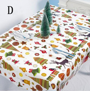 1.1*1.8m New Oilcloth Christmas Cloth Mistletoe EWD2271 With Tablecloth PVC Year Table Disposable Clean Poinsettia Rectangle Wipe Sushh