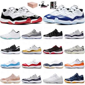 nike air jordan retro 11 11s Designer Running Shoes sapatos basketaball 11 11s jumpman SatinJordâniaRetro alta Bred Womens Sneakers Snakeskin Mens Navy 36-47