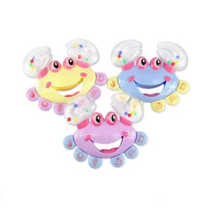 Lovely Boys Girls Kids Baby Crab Design Handbell Musical Instrument Jingle Rattle Toy Fast Shipping