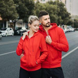 2021 Spring Hot selling men's and women's fleece zipper cardigan hoodie coat sweater advertising shirt Ienbel