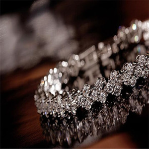 Shining Crystal BraceletsZircon Diamond Roman Tennis Link Bracelet Jewelry PS1436