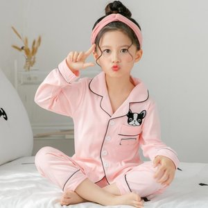 Spring and autumn children's long sleeved pajamas suit for kids 100%cotton girls boys household clothes children pajamas R4