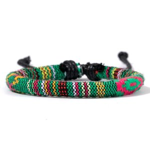 FEI Doca New Fashion Bohemian arco-íris colore trançado Leather Charm Handmade Amizade Homens Mulheres nepalês Nation Pulseira sqcHGW bdefashion