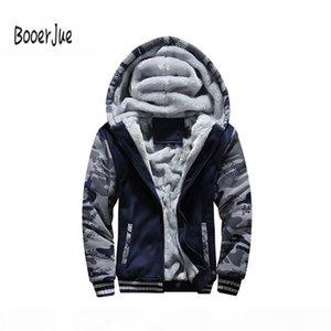 Bomber Jacket Men Camouflage Autumn Winter Warm Thick Velvet Casual Zipper Cardigan Coat Tracksuit Men Sweatshirts Hoody 4XL New