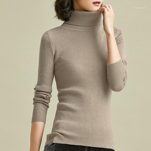 Turtleneck Winter Warm Women Sweater Elastic Autumn Winter Bottoming Pullovers Slim Knitted Designer Top for Woman YT802141