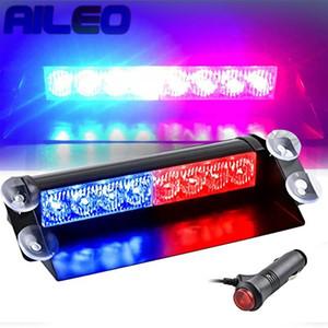 AILEO Car Truck Emergency Flasher Dash Strobe Warning Light Day Running Flash Led Lights Auto 8 LEDs 3 Flashing Modes 12V