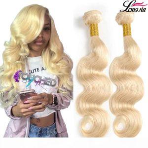 Pure 613 Blonde Hair Weaves Body Wave Peruvian Hair Bundles 3 pcs Unprocessed Body Wave Human Hair Extensions