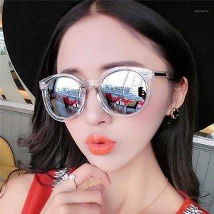 FSQCE Vintage Fashion Round Sunglasses Women Brand Points Woman Shades Gradient Lens Sun Glasses UV4001