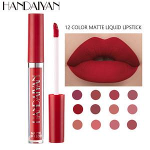 HANDAIYAN Sexy Matte 12 Colors Lipgloss Base Liquid Lipstick Waterproof Long Lasting Mini Thin Lipgloss Tubes Makeup Lip Gloss 60pcs