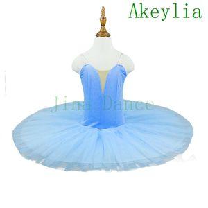 Sky Blue Bird Classical Ballet Tutu Royal blue Children Professional Pancake Platter Tutu Stage Ballet Dress red purple black white