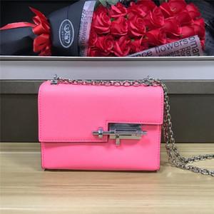 Sacs de luxe de luxe de luxe de qualité supérieure sac à bandoulière unique sac de chaîne en cuir véritable sac de verrouillage de mode de mode de mode