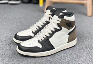 1 High Sail Black Dark Mocha Mens Athletic Shoes Fashion Outdoor Sports Shoes 1s OG Black White Woman Chaussures Trainers