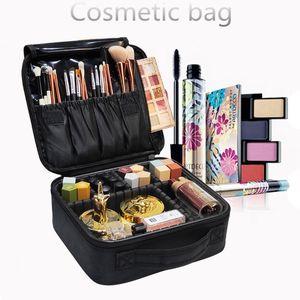 Women Professional Cosmetic Case Beauty Brush Makeup Bag Travel Necessary Waterproof Cosmetic Bag T200110