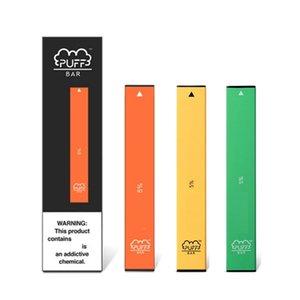 Слоеное Бар Одноразовая Vape Pen Device 280mAh Аккумулятор 1,3 мл Под пуфы масло картридж 18 цветов с кодом безопасности новой упаковки