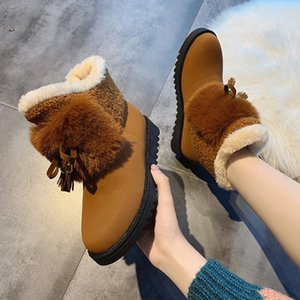 GNOME New Coming Tassel Snow Ankle Boots Women Fashion Fringe Hairy Winter Shoes Woman Bow-knot Ladies Platform Fur Boots