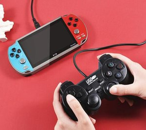X19 Double Players Game Console 4.3 inch HD Screen 8G Double Rocker Handheld Game Player with game controller vs x7 x12 821