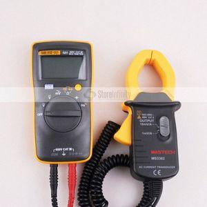 Fluke 101 Multímetro digital básico de bolsillo multímetro digital de rango automático MS3302 AC actual transductor 0.1A-400A Pinza amperimétrica 0Lmx #