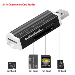SD Card Reader USB C Card Reader 4 em 1 USB 2.0 TF / Mirco SD Inteligente Memory Card Reader Tipo C OTG Flash Drive Leitor Adapter