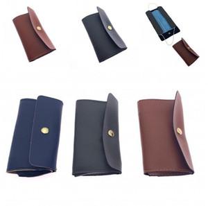 Couro saco de armazenamento Mulheres Homens Outdoor botão snap Máscara Caso Bags Multicolor portátil Cartão de cara Negócios Máscaras Titular Pocketbook G2 3 5zl