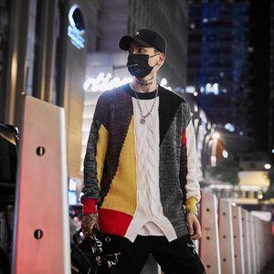Seveyfan 2021 мужской свитер со свитером подходит свитер повседневная свободная корейская мода