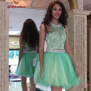 Two Pieces Short Graduation Dresses Junior Prom Dress for Party