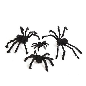 High Quality Horror Giant Black Plush Spider Halloween Party Decoration Props Kids Children Toys Haunted House Decor