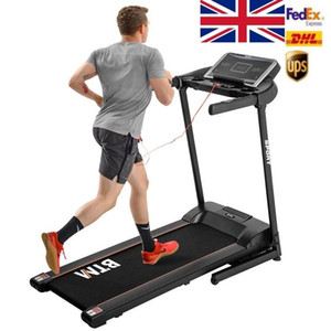 UK Stock, Electric Treadmill Hydraulic Folding Motorized Running Machine for Home Office Use 16 level adjustable incline MS194821AAB