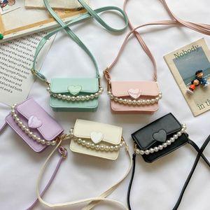 LOVE pearl kids handbags fashion Mini girls bags Pu leather kids purses girls shoulder bags kids messenger bag girls purses