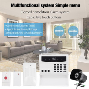 LED Intelligent Wireless Digital Home Security Alarm System Fireproof Burglarproof Emergency Help White For Home Safe car