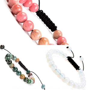Natürliches Tigerauge sieben Chakren Yoga Weben Adjustable natürliches Tigerauge Stein Armband sieben Chakren Yoga Stein Weben Adjustable Bracele
