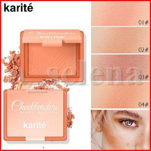 Cara profissional Bochecha Face Maquiagem blush individuais 4 cores único blush em pó Karité Make up rubor corar Waterproof Blush