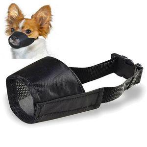 Máscara hocico del perro de malla anti Bite ajustable de nylon Barking corteza del animal doméstico del perrito de la boca Sin hocico del perro de la máscara de malla anti Bite ajustable de nylon Barking Hmfl