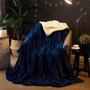 Super Warm Baby Sleeping Comforter Bedspread Duvet Cover Double Lamb Thickening Cashmere Winter Blanket