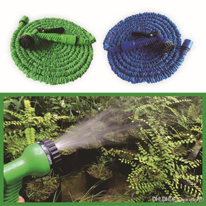 Retractable Fast Connector Water Hose With Multi Size Water Gun House Garden Watering Washing Latex Expandable Hose Set DH0755-6 T03