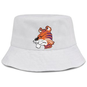 Clemson Tigers Peace Love Tigers pink men and women fishing bucket sun hat design retro team fashion classic bucket suncap