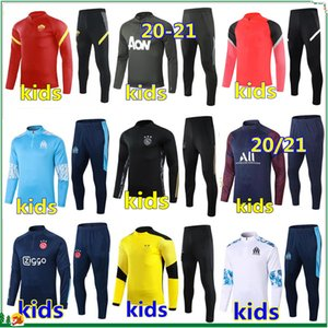 New ajax kids soccer tracksuit football training suit 20 21 roma kids football tracksuit 2020 2021 survetement foot chandal jogging set