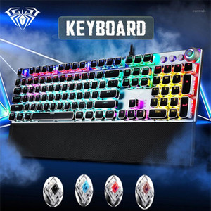 Game Mechanical Keyboard104 keys Black Blue  Brown Red Switch LED Backlit Anti-ghosting USB multimedia wired gaming Keyboard1